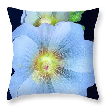 Evening Hollyhock Throw Pillow
