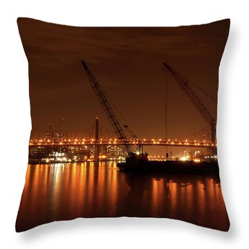 Evening Illumination Throw Pillow