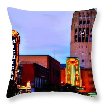 Evening In Ann Arbor Throw Pillow