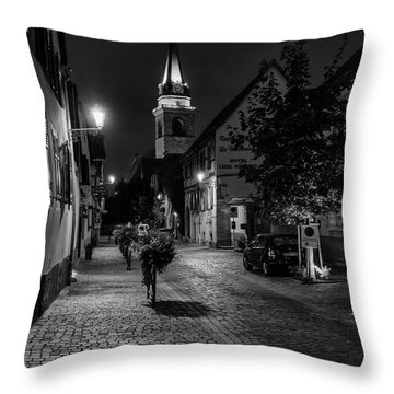Evening In Bergheim Throw Pillow