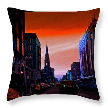 Evening In Boston Throw Pillow