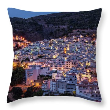 Evening In Competa Throw Pillow