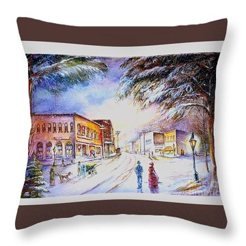 Evening In Dunnville Throw Pillow