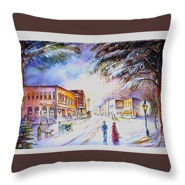 Evening In Dunnville Throw Pillow by Patricia Schneider Mitchell