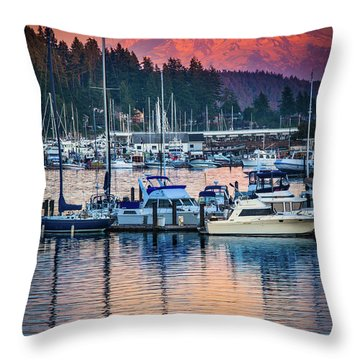 Evening In Gig Harbor Throw Pillow