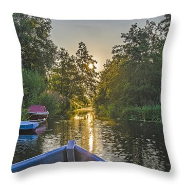 Evening In Loosdrecht Throw Pillow