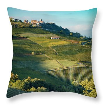 Throw Pillow featuring the photograph Evening In Piemonte by Brian Jannsen