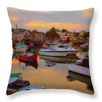 Evening In Rockport Throw Pillow by Joann Vitali