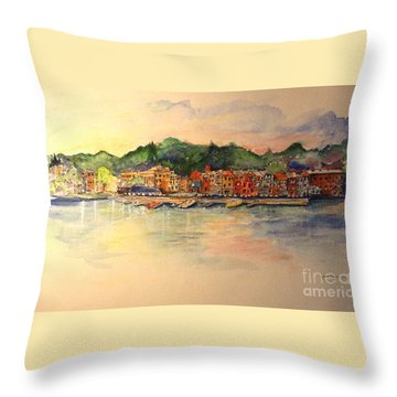 Evening In Skaneateles Throw Pillow