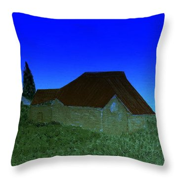 Evening In Vevey Throw Pillow