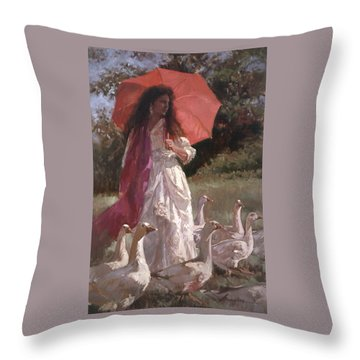 Evening Interlude Throw Pillow