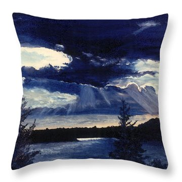 Evening Lake Throw Pillow by Steve Karol