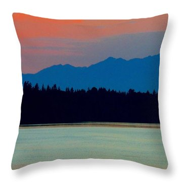 Evening Layers Throw Pillow