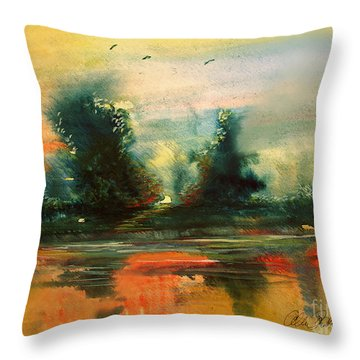 Evening Light Throw Pillow by Allison Ashton