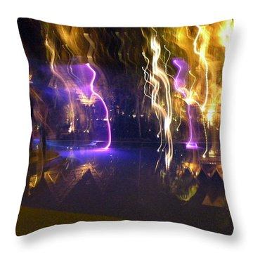 Evening Light Show At The Grand Mayan Throw Pillow