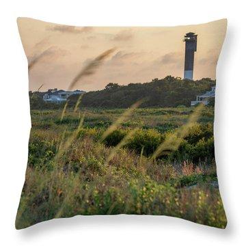 Evening Light Sullivan's Island Throw Pillow