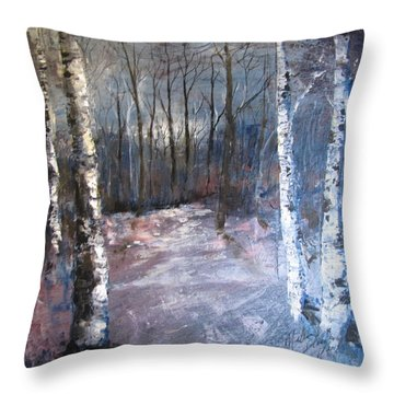 Evening Medow Throw Pillow
