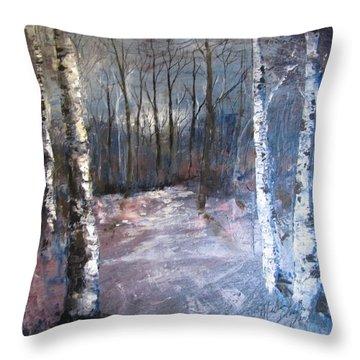 Evening Medow Throw Pillow