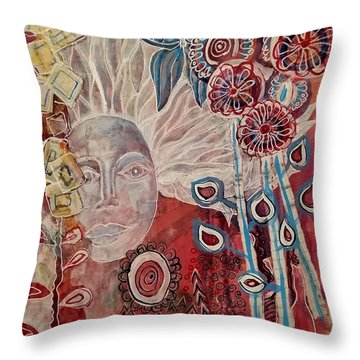 Evening Throw Pillow by Mimulux patricia no No