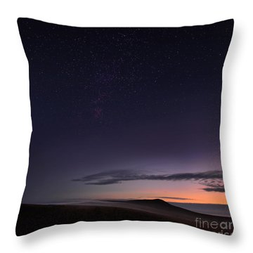 Evening Mist Rising On The Cronk Throw Pillow