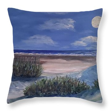 Evening Moon Throw Pillow