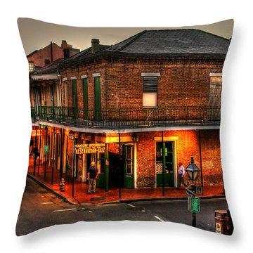 Evening On Bourbon Throw Pillow