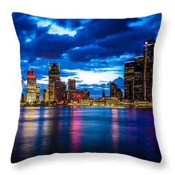 Evening On The Town Throw Pillow