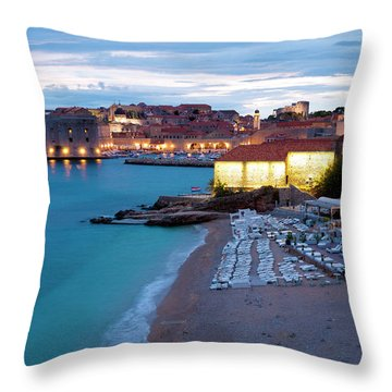 Evening Over Dubrovnik Throw Pillow by Rae Tucker
