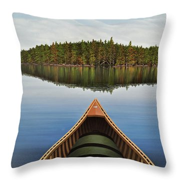 Evening Paddle  Throw Pillow by Kenneth M  Kirsch