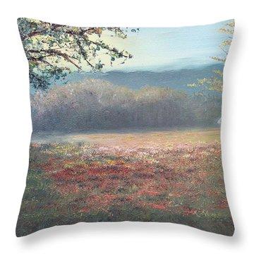 Evening Pasture Throw Pillow