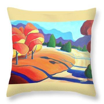 Evening Path Throw Pillow