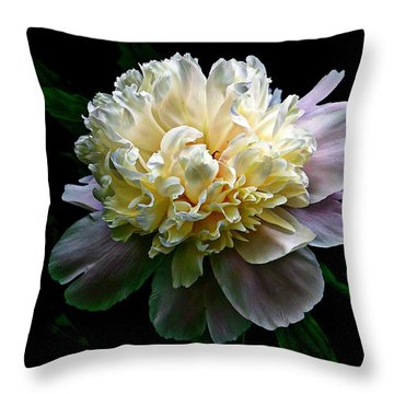 Evening Peonies Throw Pillow