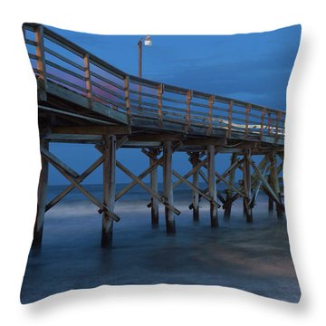 Evening Pier Throw Pillow