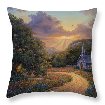 Throw Pillow featuring the painting Evening Praise by Kyle Wood
