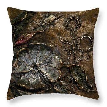 Evening Primrose Throw Pillow by Dawn Senior-Trask