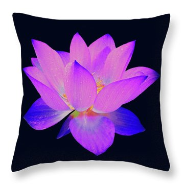 Evening Purple Lotus  Throw Pillow