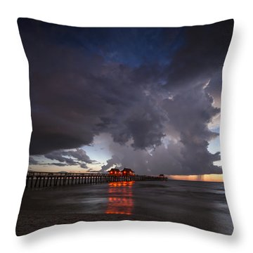 Evening Rain Throw Pillow