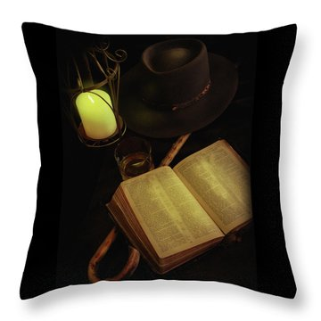Evening Reading Throw Pillow
