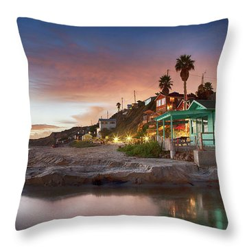 Evening Reflections, Crystal Cove Throw Pillow