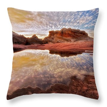 Evening Reflections  Throw Pillow by Nicki Frates