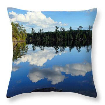 Evening Reflections On Spoon Lake Throw Pillow