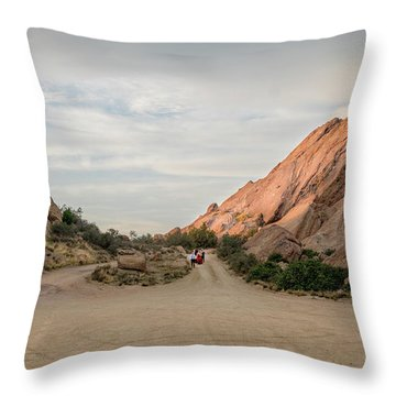 Throw Pillow featuring the photograph Evening Rocks By Mike-hope by Michael Hope
