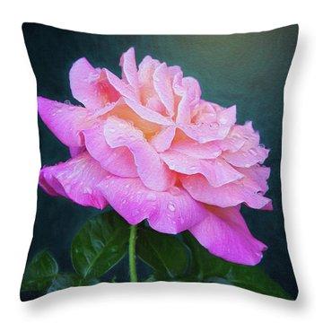 Evening Rose Throw Pillow
