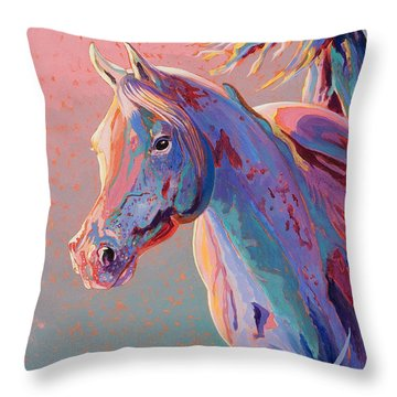 Evening Run Throw Pillow by Bob Coonts