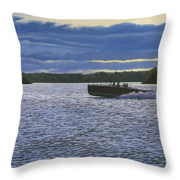 Evening Run Throw Pillow