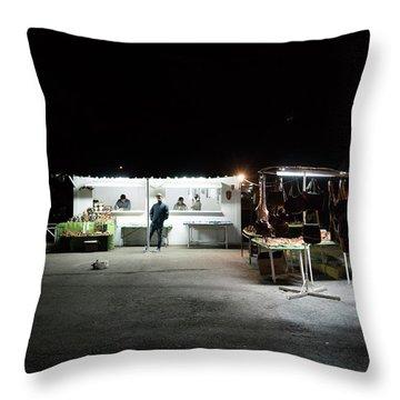 Evening Sales Throw Pillow