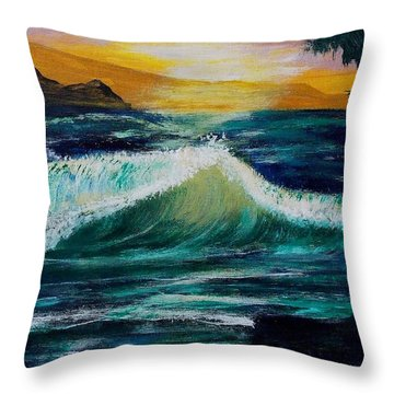 Evening Seascape 1 Throw Pillow