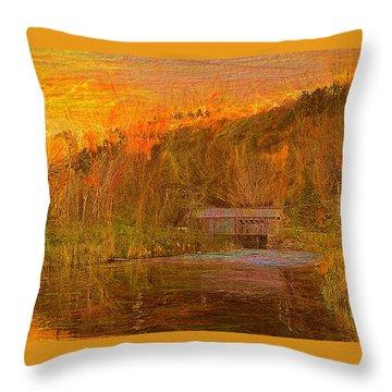 Evening Shadows II Throw Pillow