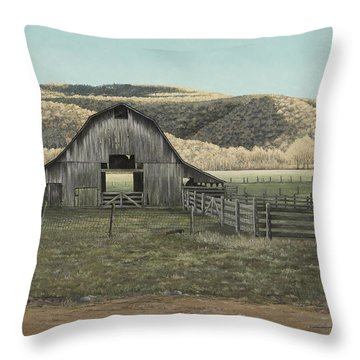Evening Shadows In Boxley Valley Throw Pillow by Mary Ann King