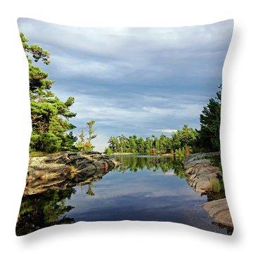 Evening Silence Franklin Island Throw Pillow